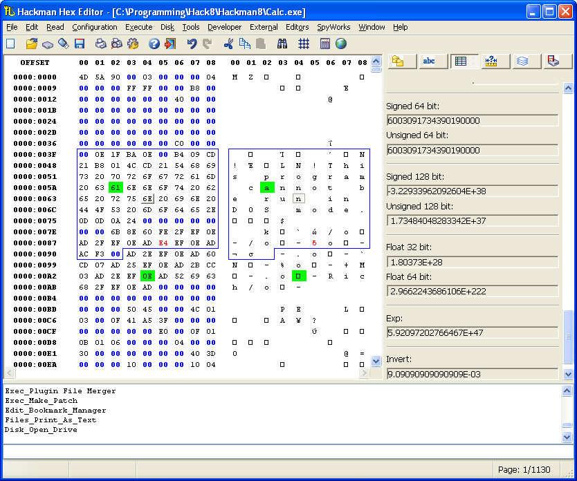 Hackman Hex Editor v9.3 Screenshot